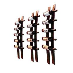 DCIGNA Wall Mounted Wine Rack Wooden, Barrel Stave Wine Rack, Wooden Wine Bottle Holder Rack, Im ...