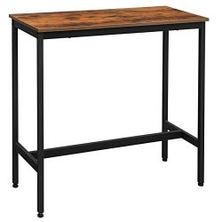 VASAGLE ALINERU Bar Table, Narrow Rectangular Bar Table, Kitchen Table, Pub Dining High Table, S ...