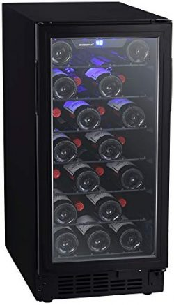 EdgeStar BWR301BL 15 Inch Wide 30 Bottle Built-In Wine Cooler with Slim Design