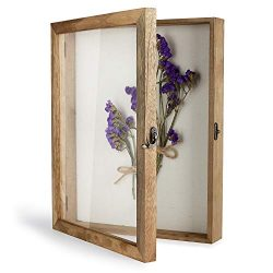TJ.MOREE Shadow Box Display Case 11″ x 14″ Shadowbox Frame with Linen Back Memorabil ...