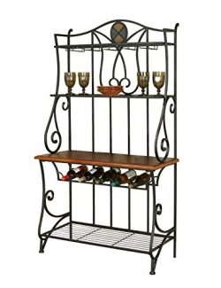 Sunset Trading Vail Dining Bakers Rack, Wine, Espresso