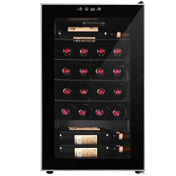 Northair 24 Bottle Wine Beer Cooler Compressor Refrigeration, Under Counter Wine Cellar with LCD ...