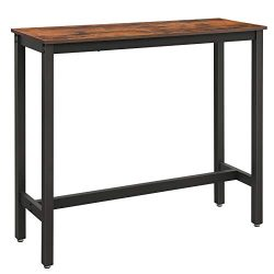 VASAGLE ALINRU Bar Table Narrow, Rectangular Bar Table, Kitchen Table, Pub Dining High Table, St ...