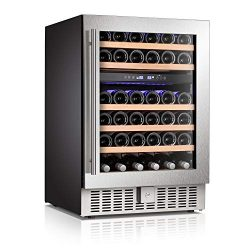 Antarctic Star Wine Cooler Beverage Refrigerator Fridge 46 Bottles 24″ Dual Zone Built-in  ...