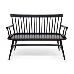 Eartha Farmhouse Bench, Black