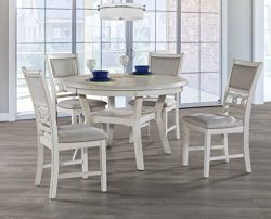 New Classic Furniture Gia Round Dining Set, Bisque