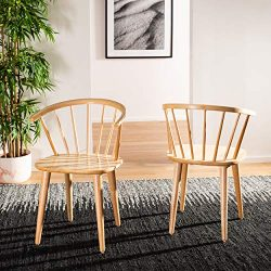 Safavieh American Homes Collection Blanchard Country Farmhouse Natural Side Chair (Set of 2)