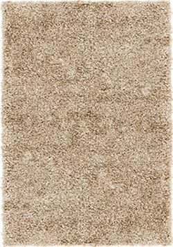 Rugs.Com Soft Solid Shag Collection Area Rug – 2X3 Khaki Shag Rug Perfect for Entryways, K ...