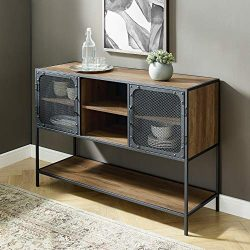 Walker Edison Furniture Company Industrial Metal Mesh Door Buffet Sideboard with Storage, 48R ...