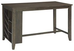 Signature Design By Ashley – Rokane Rectangular Dining Room Counter Table w/Storage – ...