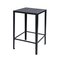 GreenForest Bar Table Modern 38.4-Inch Height Square High Top Dining Pub Table with Large Surfac ...