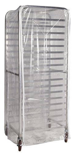 Winholt SRC-58/3Z Bun Pan Rack Cover, Heavy Duty Plastic, 3 Zippers, 23″ W x 28″ L x ...