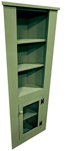 Sawdust City 5 Foot Kitchen Corner Hutch (Solid Sage)
