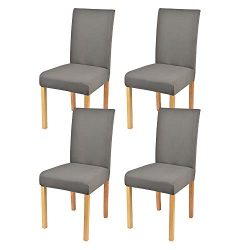 Lacoreka Dining Chair Cover Seat Slipcover Set of 4 Super Fit Stretch Removable Washable Parsons ...