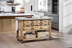 OSP Home Furnishings Charlotte Kitchen Island, Cement