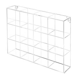 MyGift Wall Mounted Clear Acrylic 12 Compartment Organizer Rack/Freestanding Kitchen Bathroom Co ...