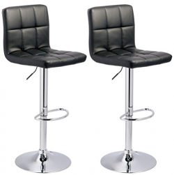 Signature Design by Ashley – Bellatier Tall Upholstered Adjustable Swivel Barstool – ...