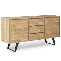 Simpli Home Lowry Sideboard Buffets, Distressed Golden Wheat