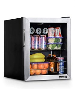 NewAir NBC060SS00 Beverage Cooler and Refrigerator, Holds up to 60 Cans, Perfect for Beer Wine o ...
