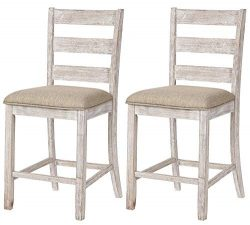 Signature Design By Ashley – Skempton Upholstered Barstool – Set of 2 – Ladder ...