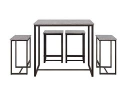 Abington Lane Kitchen Table Set – Versatile, Tall, Modern Table Set for Any Room or Occasi ...