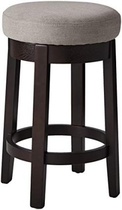 Ravenna Home Backless Counter-Height Kitchen Bar Stool with Swivel Seat, 26″H, Slate