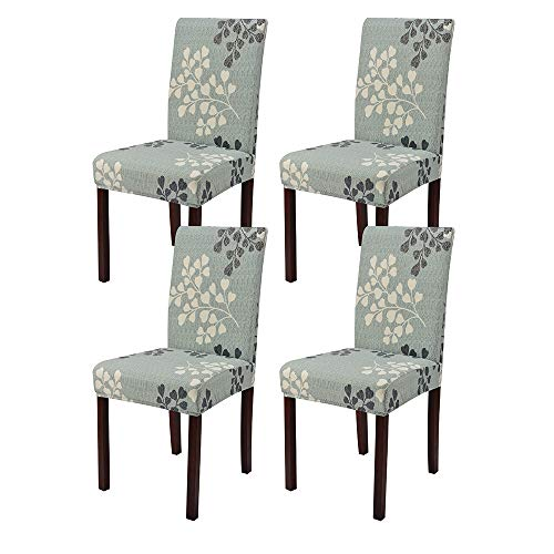 Lacoreka Printed Dining Chair Cover Seat Slipcover Super Fit Stretch Removable Washable Parsons  ...