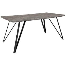 Taylor + Logan Rectangular Dining Table, 31.5″ x 63″, Faux Concrete Finish