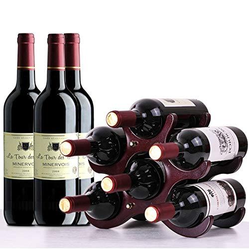 HILELIFE Wine Rack – Wine Holder, Wine Racks Countertop, Wine Bottle Holder, 6 Bottles Win ...